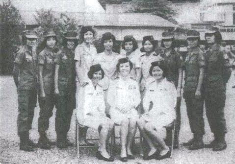 Yên avec des collègues de l'armée en 1972 © DR
