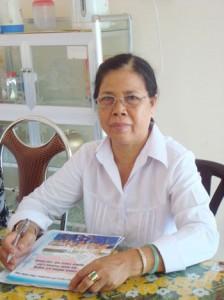 Chị Lê Thị Bạn - Chủ tịch Hội cựu Thanh niên xung phong © 2013 Dong Khoi
