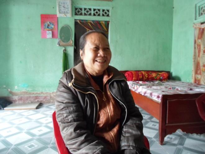 Cô Nguyễn Thị Toán ngồi tâm sự với phóng viên © 2014 Zing News