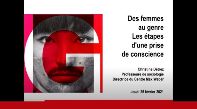 Christine DETREZ – Des femmes au genre : les étapes d'une prise de conscience